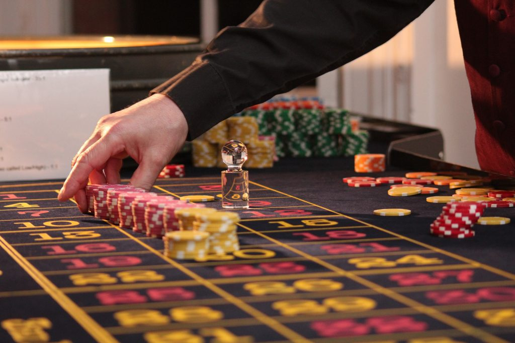 Playing baccarat