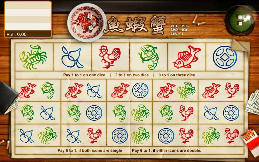 Fish Crab Gourds Betting Game